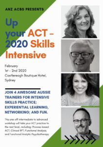 ANZ ACBS Up your ACT - Skills Intensive, Sydney 2020